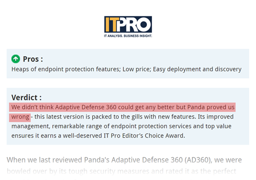 IT Pro Editors Choice Award